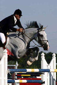 grand prix jumping at Amen Corner